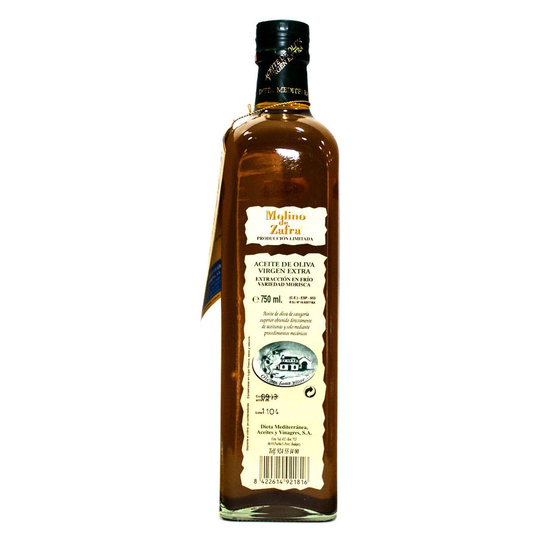 Aceite de Oliva Virgen Extra Zafra Botella de Cristal 750 ml